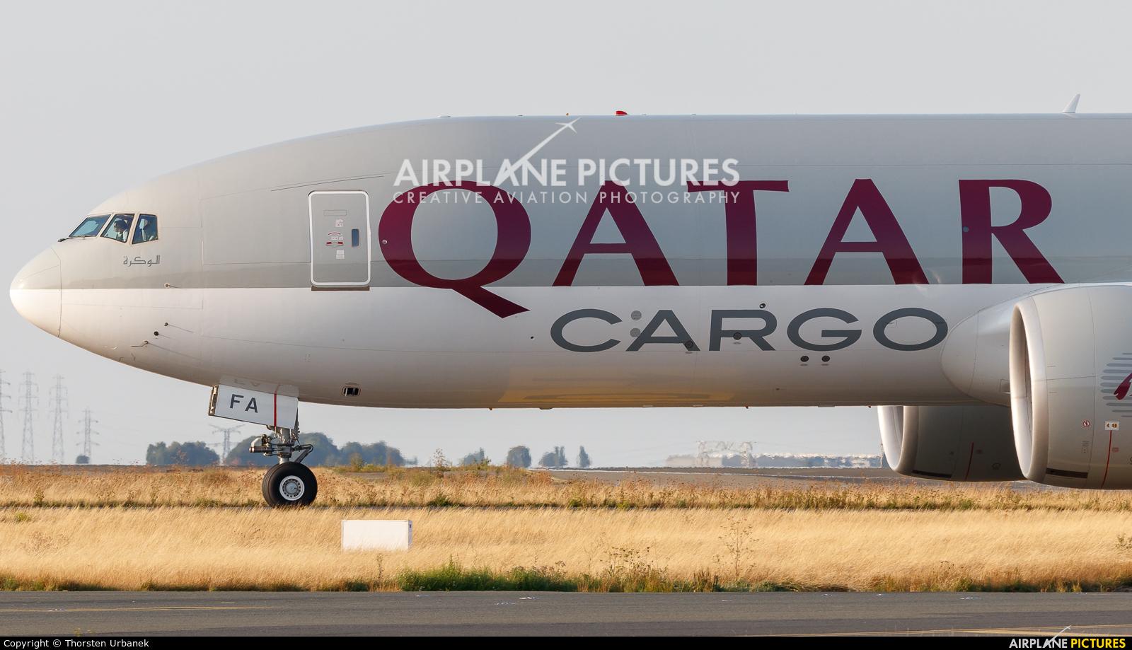 Qatar Airways Cargo A7-BFA aircraft at Paris - Charles de Gaulle
