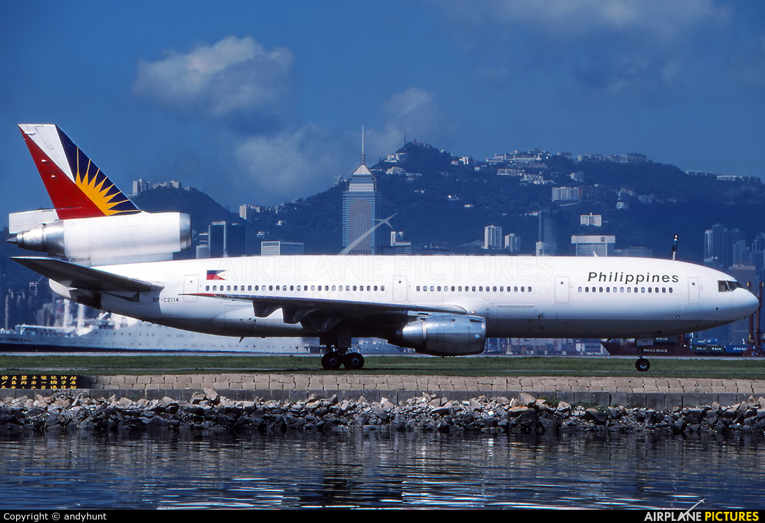 Philippines Airlines RP-C2114 aircraft at HKG - Kai Tak Intl CLOSED
