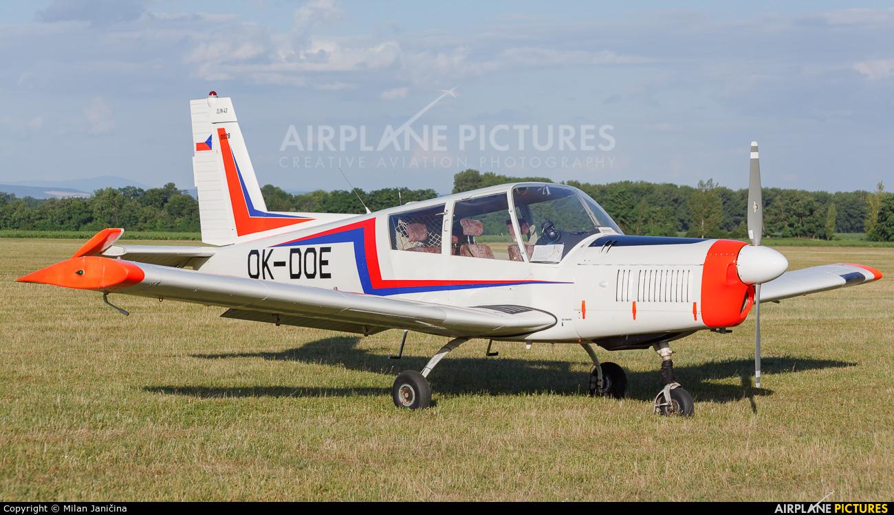 Aeroklub Czech Republic OK-DOE aircraft at Trnava- Boleráz