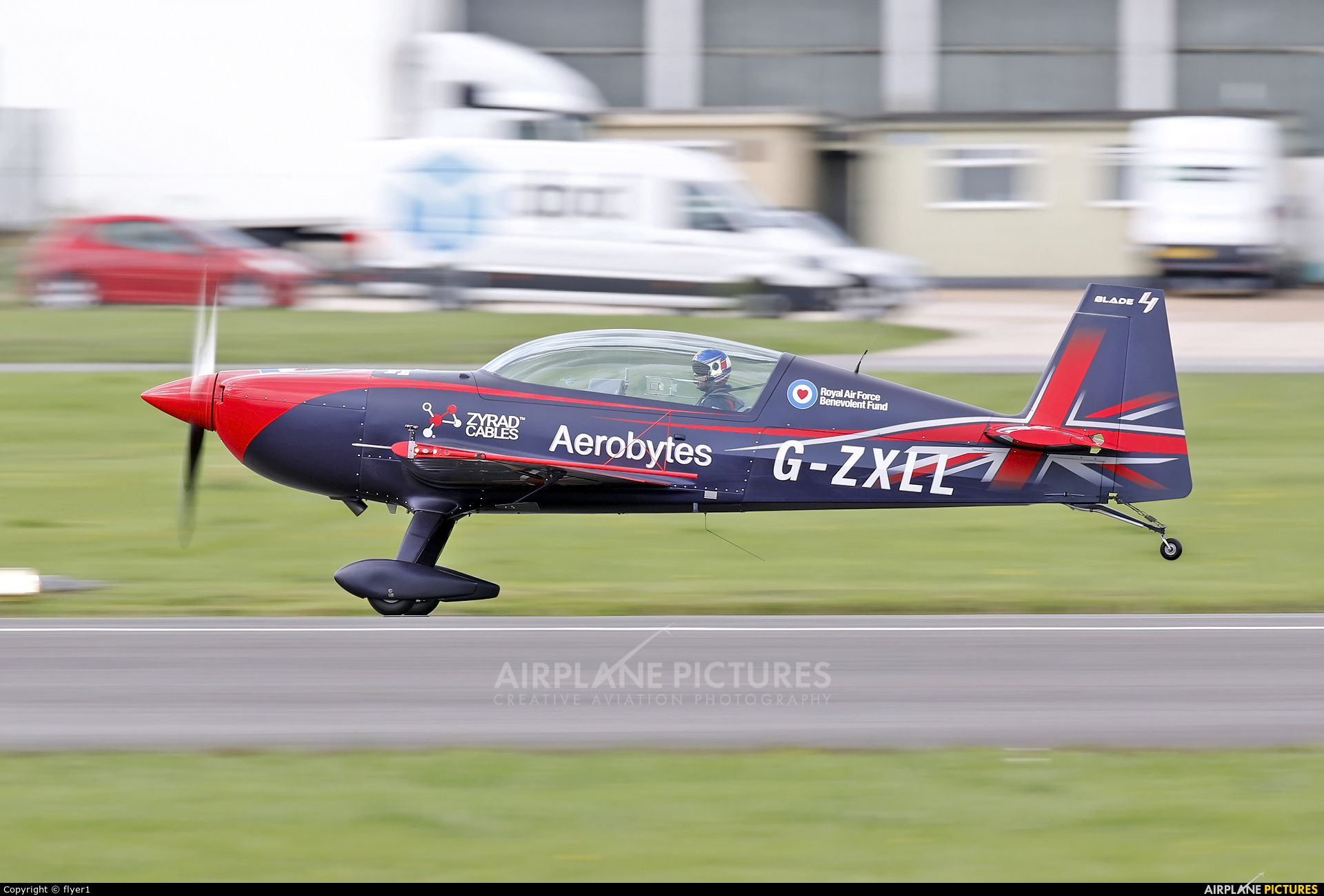 """2 Excel Aviation """"The Blades Aerobatic Team"""" G-ZXLL aircraft at Dunsfold"""