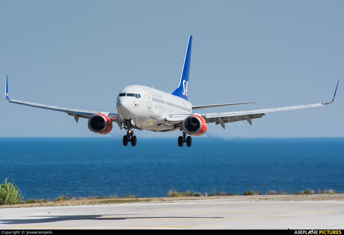 SAS - Scandinavian Airlines SE-RJR aircraft at Skiathos