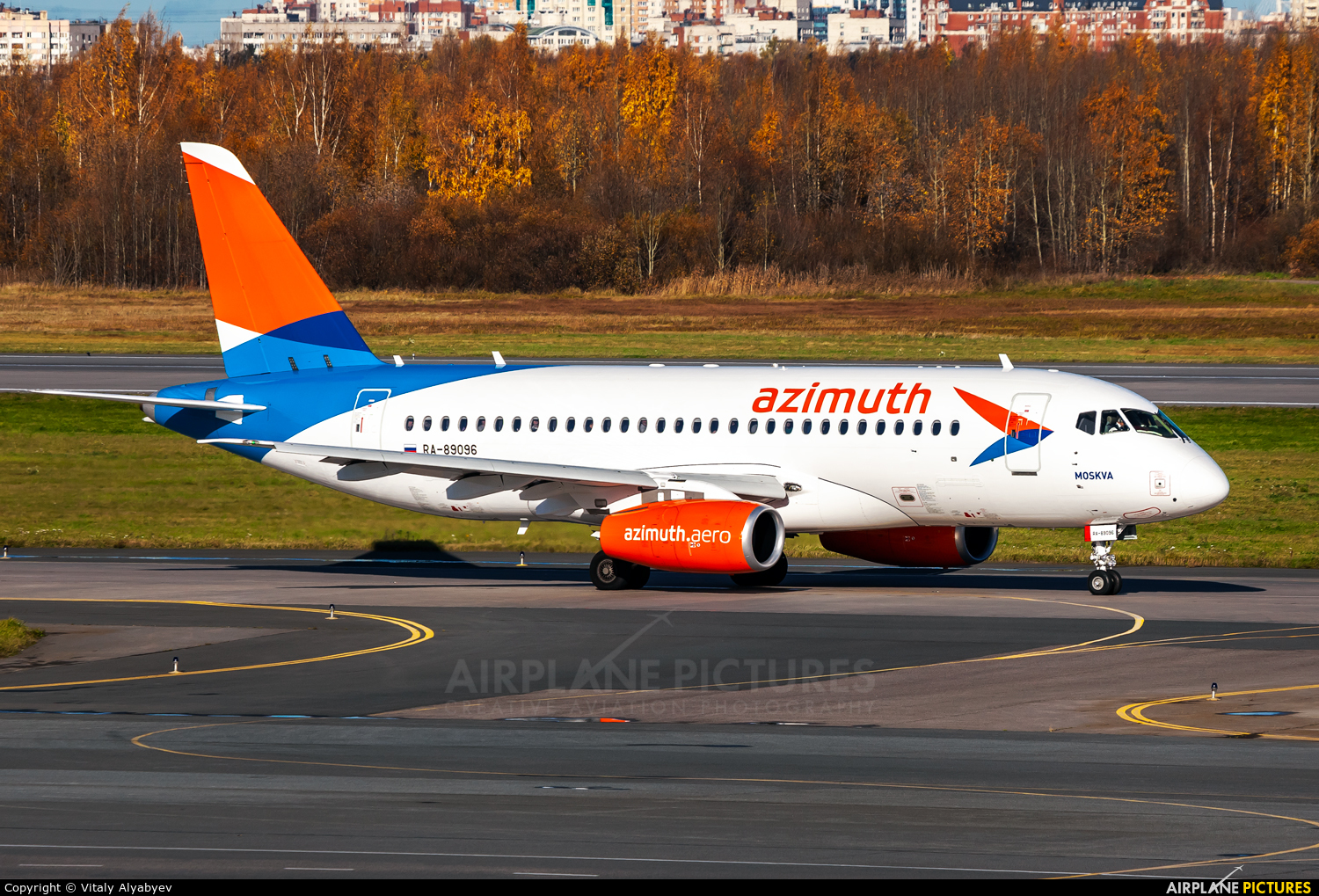 Azimuth RA-89096 aircraft at St. Petersburg - Pulkovo