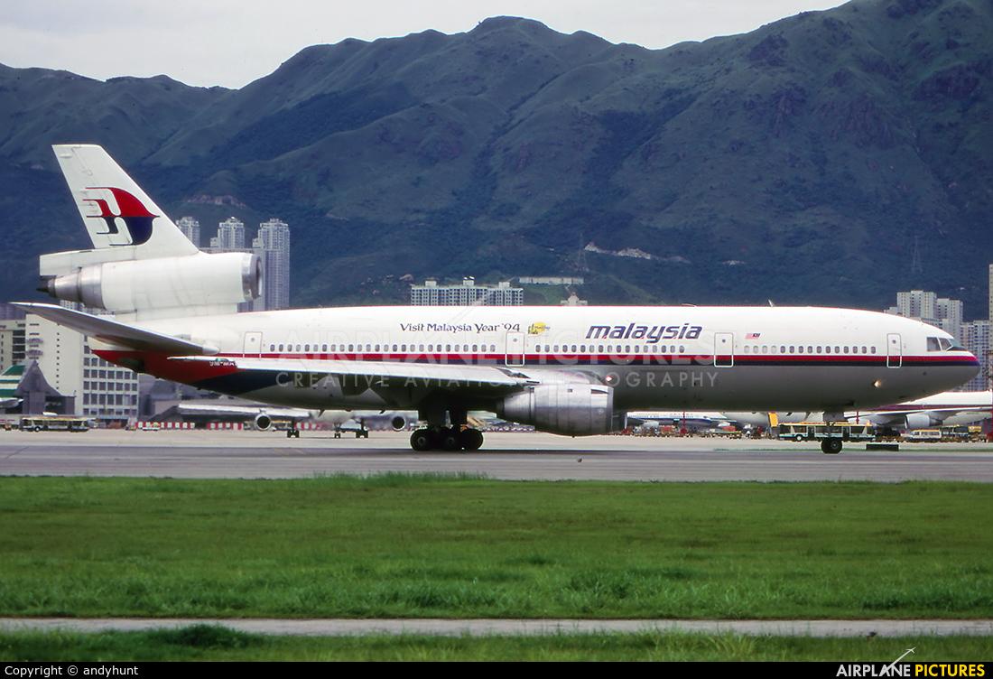 Malaysia Airlines 9M-MAS aircraft at HKG - Kai Tak Intl CLOSED