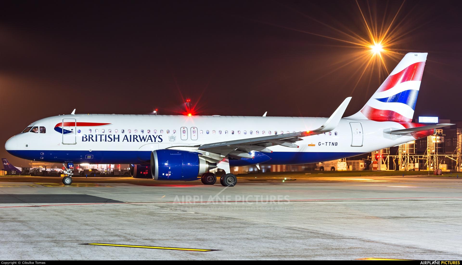 British Airways G-TTNB aircraft at Prague - Václav Havel