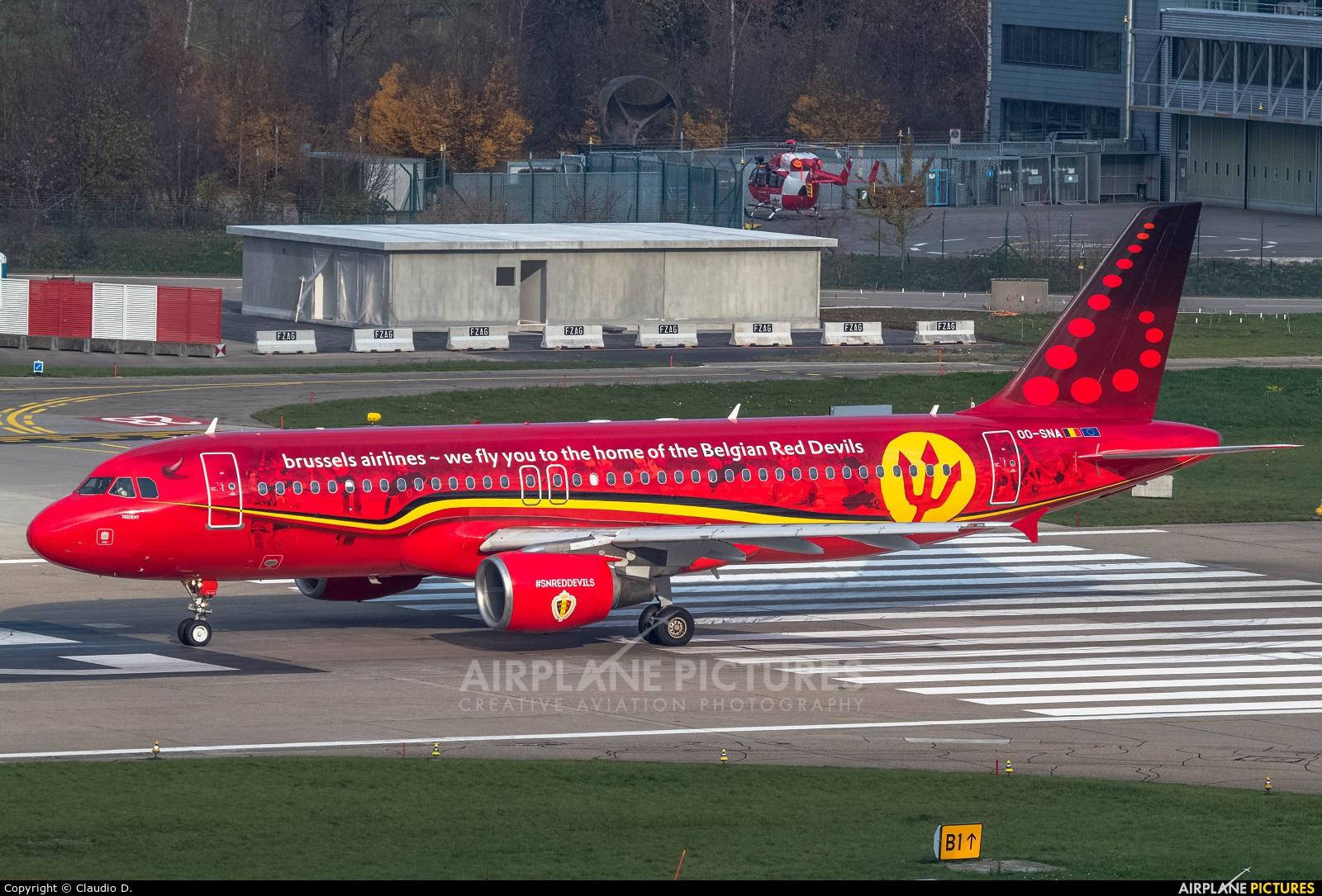 Brussels Airlines OO-SNA aircraft at Zurich