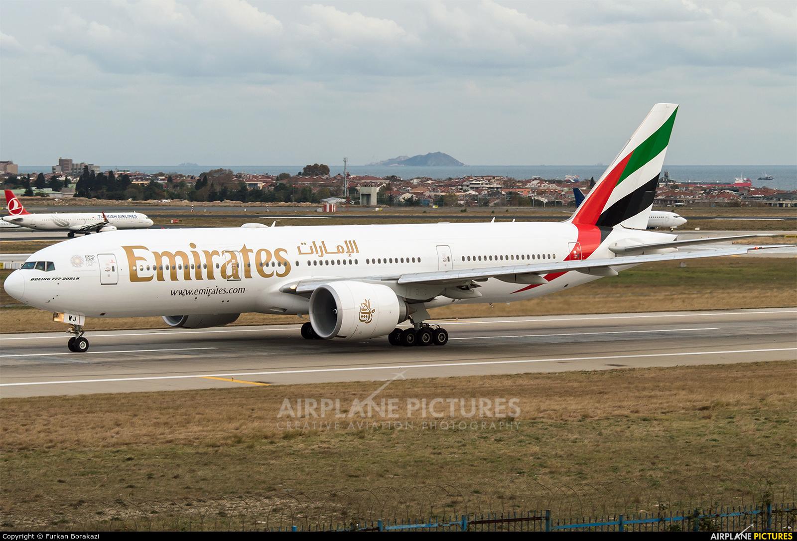 Emirates Airlines A6-EWJ aircraft at Istanbul - Ataturk