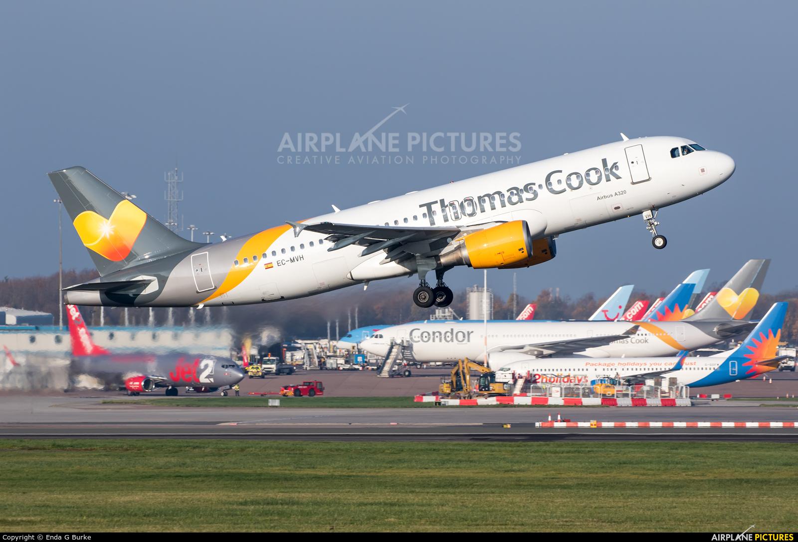 Thomas Cook Balearics EC-MVH aircraft at Manchester