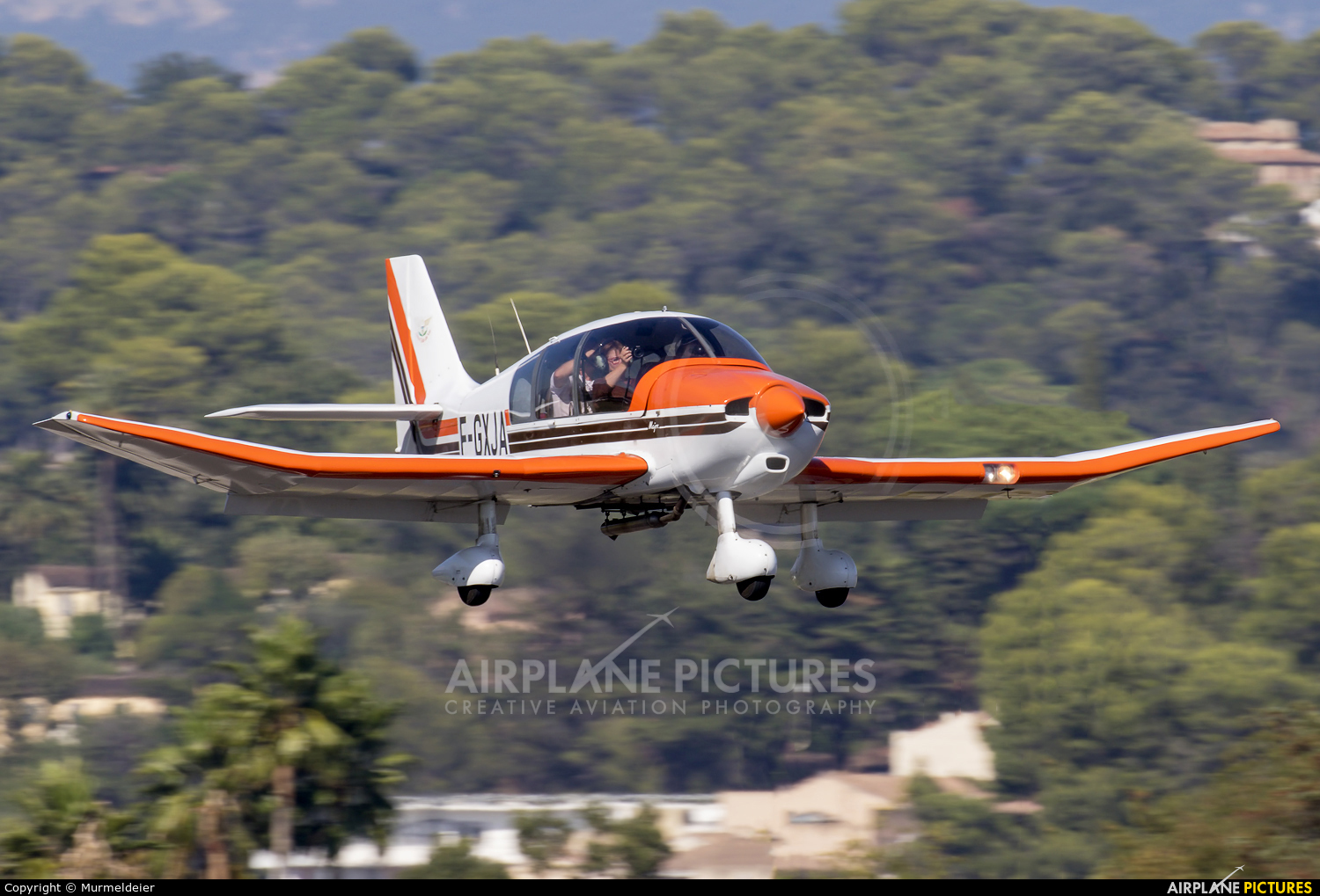 Private F-GXJA aircraft at Cannes - Mandelieu