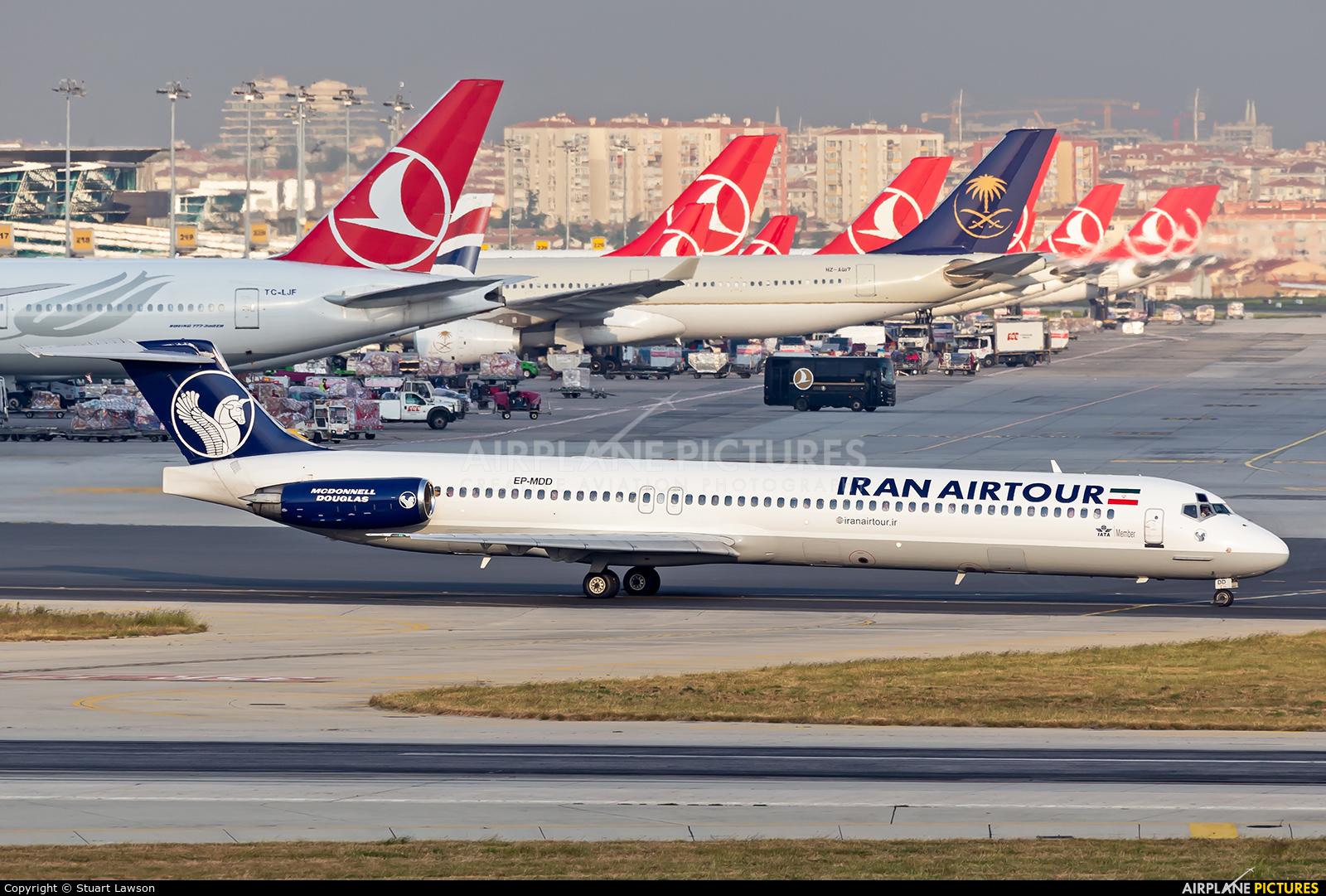 Iran Air Tours EP-MDD aircraft at Istanbul - Ataturk
