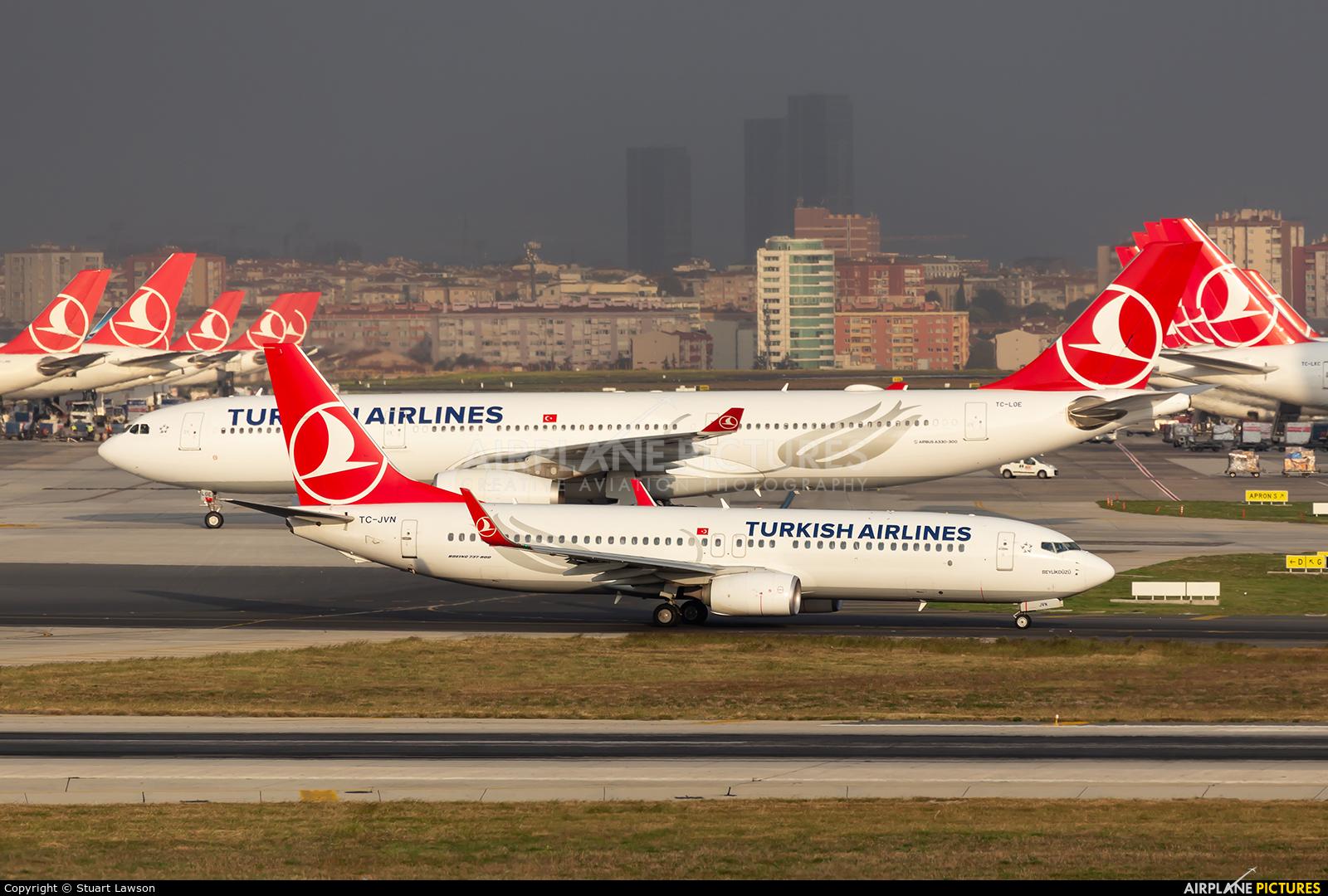 Turkish Cargo TC-JVN aircraft at Istanbul - Ataturk