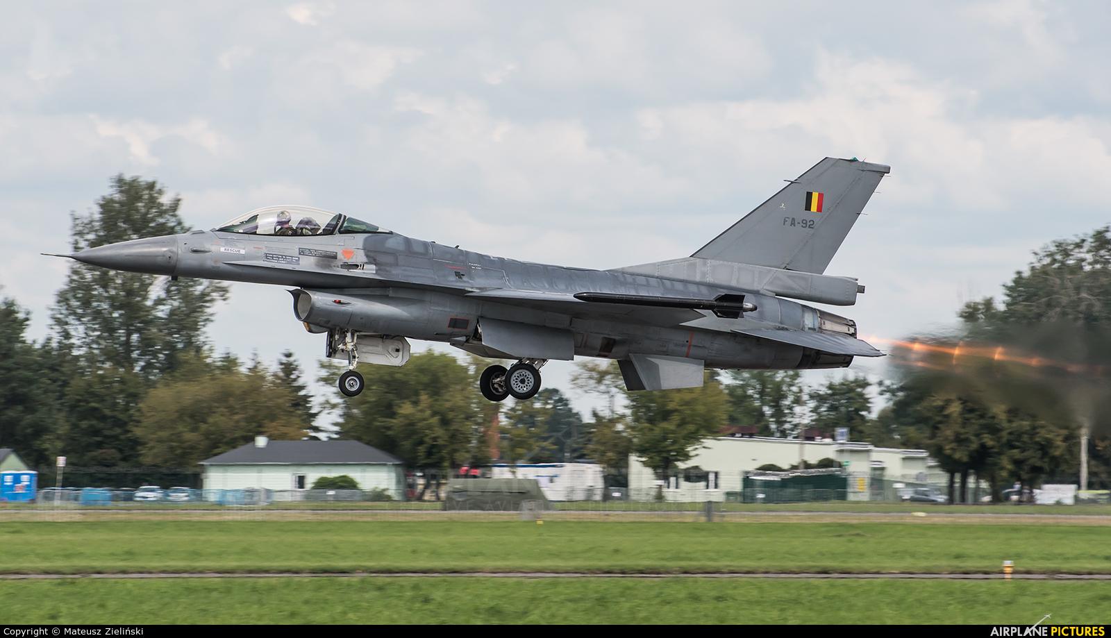 Belgium - Air Force FA-92 aircraft at Radom - Sadków