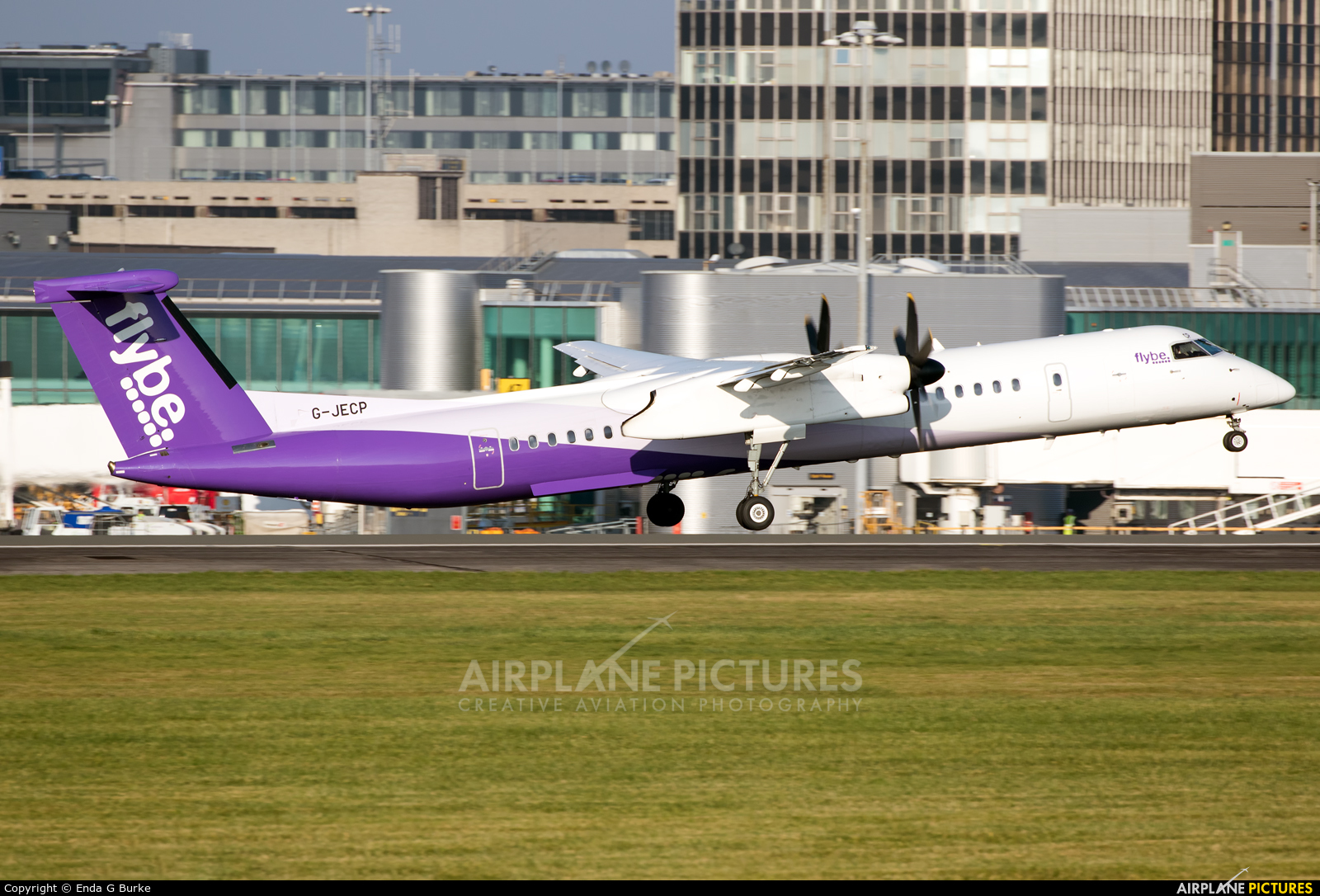 Flybe G-JECP aircraft at Manchester