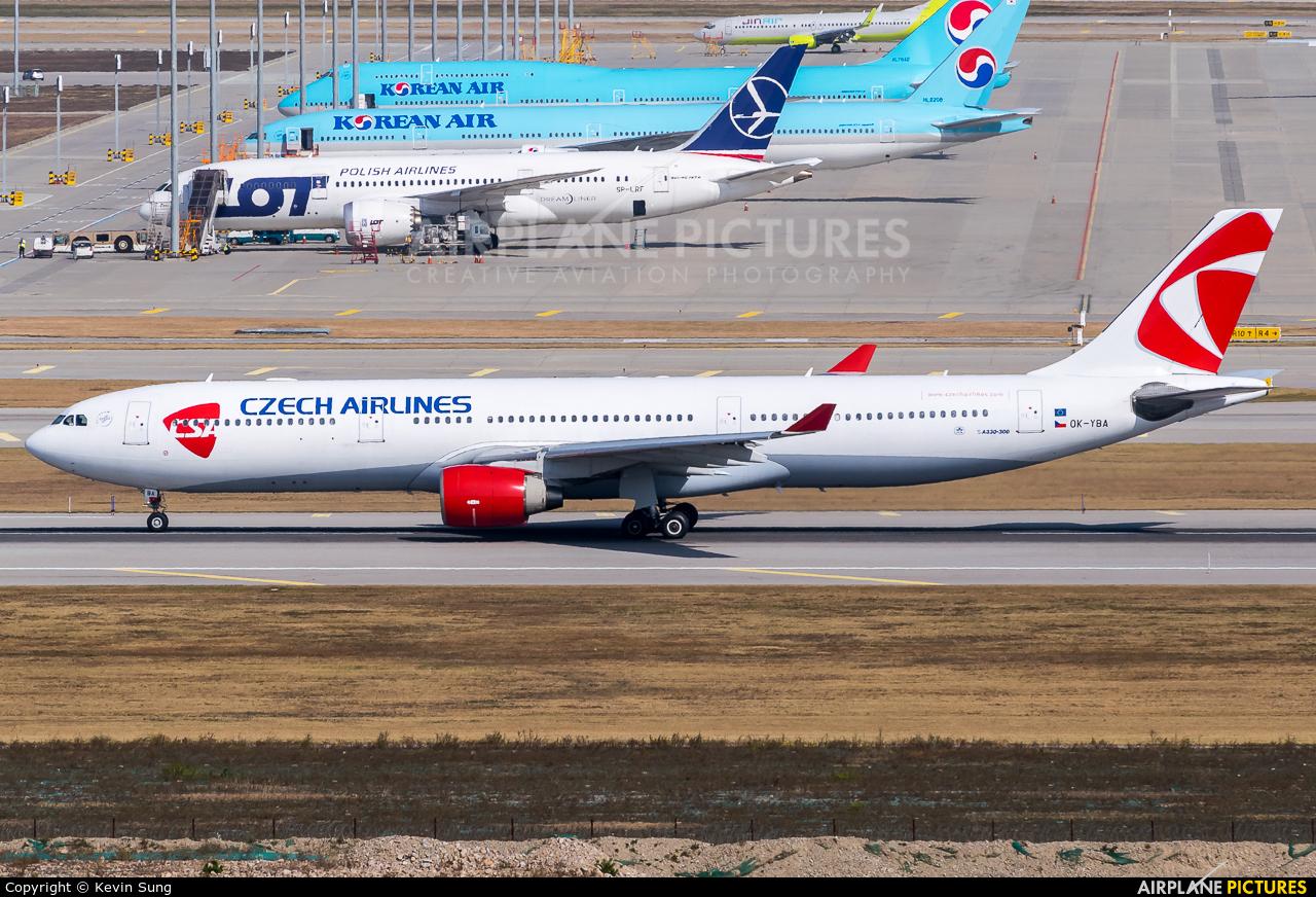 CSA - Czech Airlines OK-YBA aircraft at Seoul - Incheon