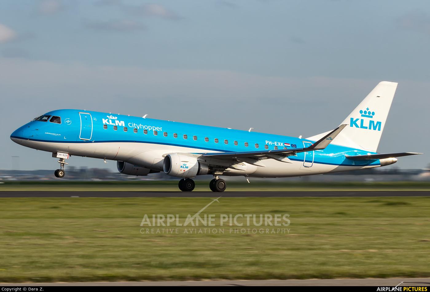 KLM Cityhopper PH-EXK aircraft at Amsterdam - Schiphol