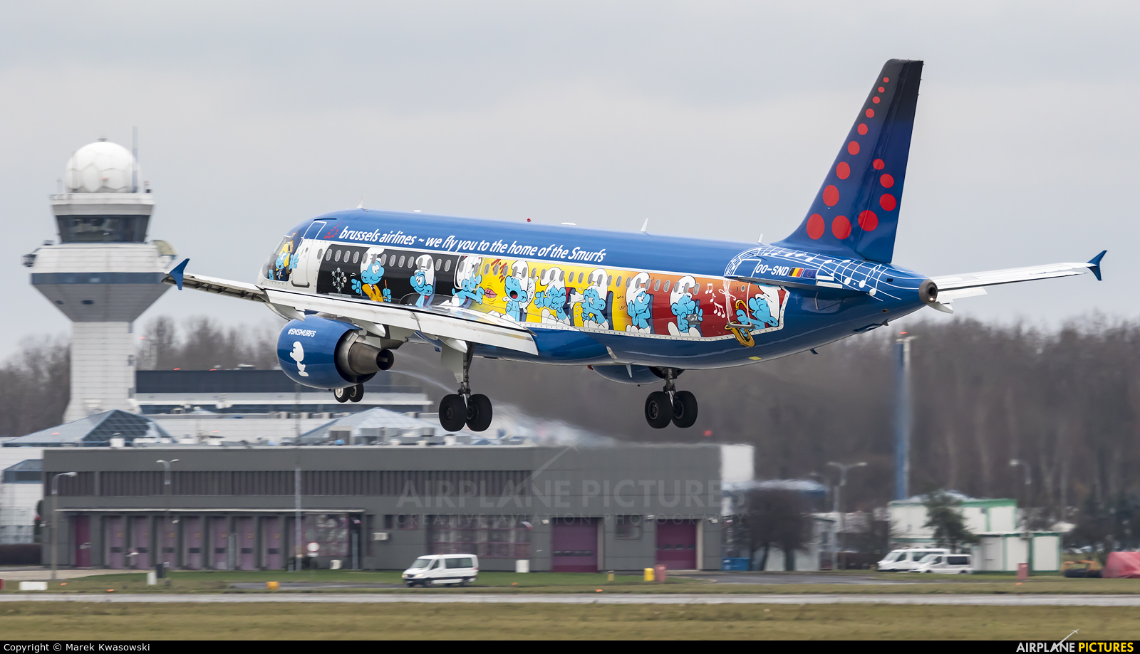 Brussels Airlines OO-SND aircraft at Warsaw - Frederic Chopin