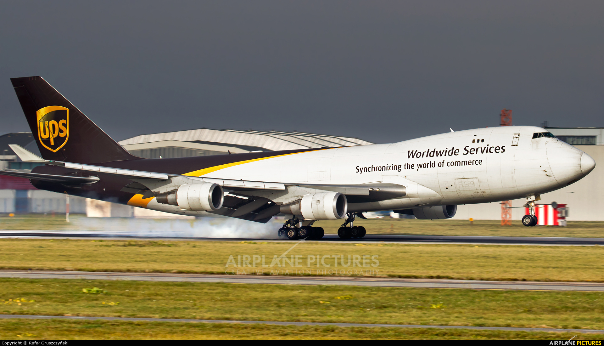UPS - United Parcel Service N577UP aircraft at Warsaw - Frederic Chopin