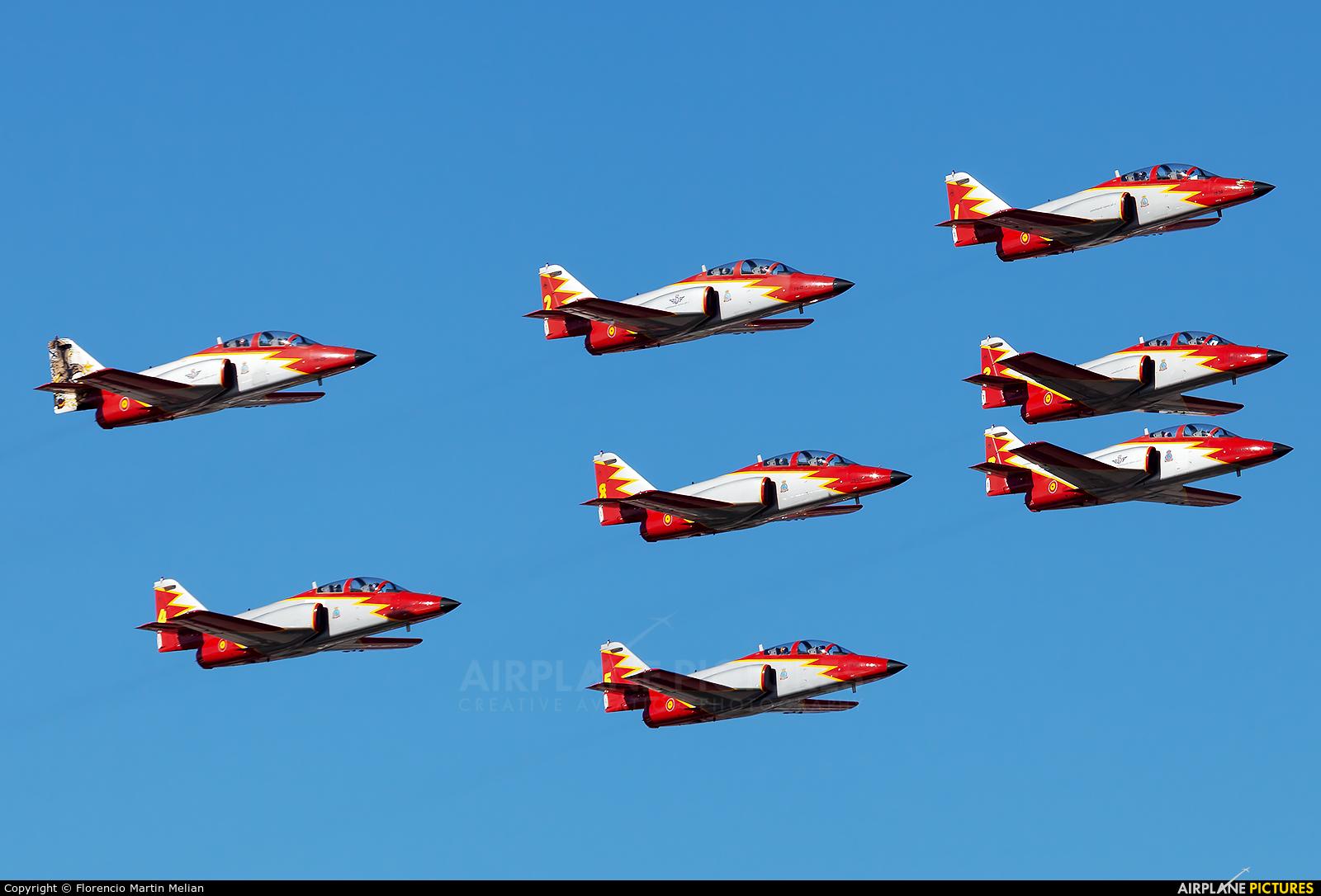 Spain - Air Force : Patrulla Aguila E.25-87 aircraft at Lanzarote - Arrecife