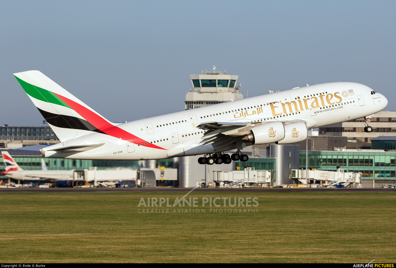 Emirates Airlines A6-EDR aircraft at Manchester