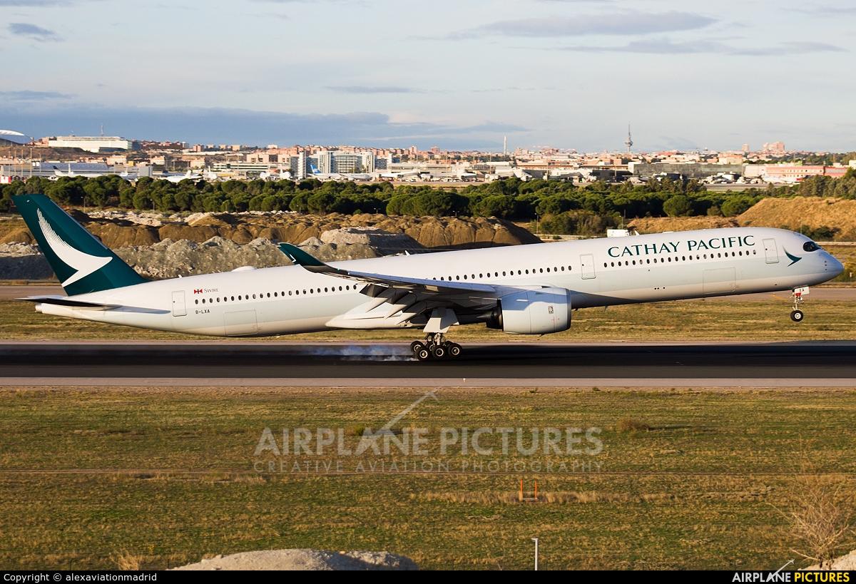 Cathay Pacific B-LXA aircraft at Madrid - Barajas