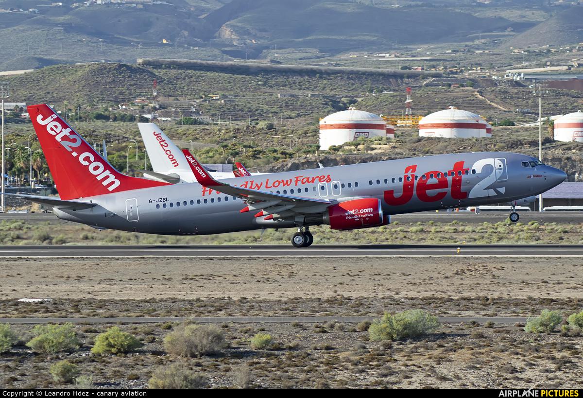 Jet2 G-JZBL aircraft at Tenerife Sur - Reina Sofia