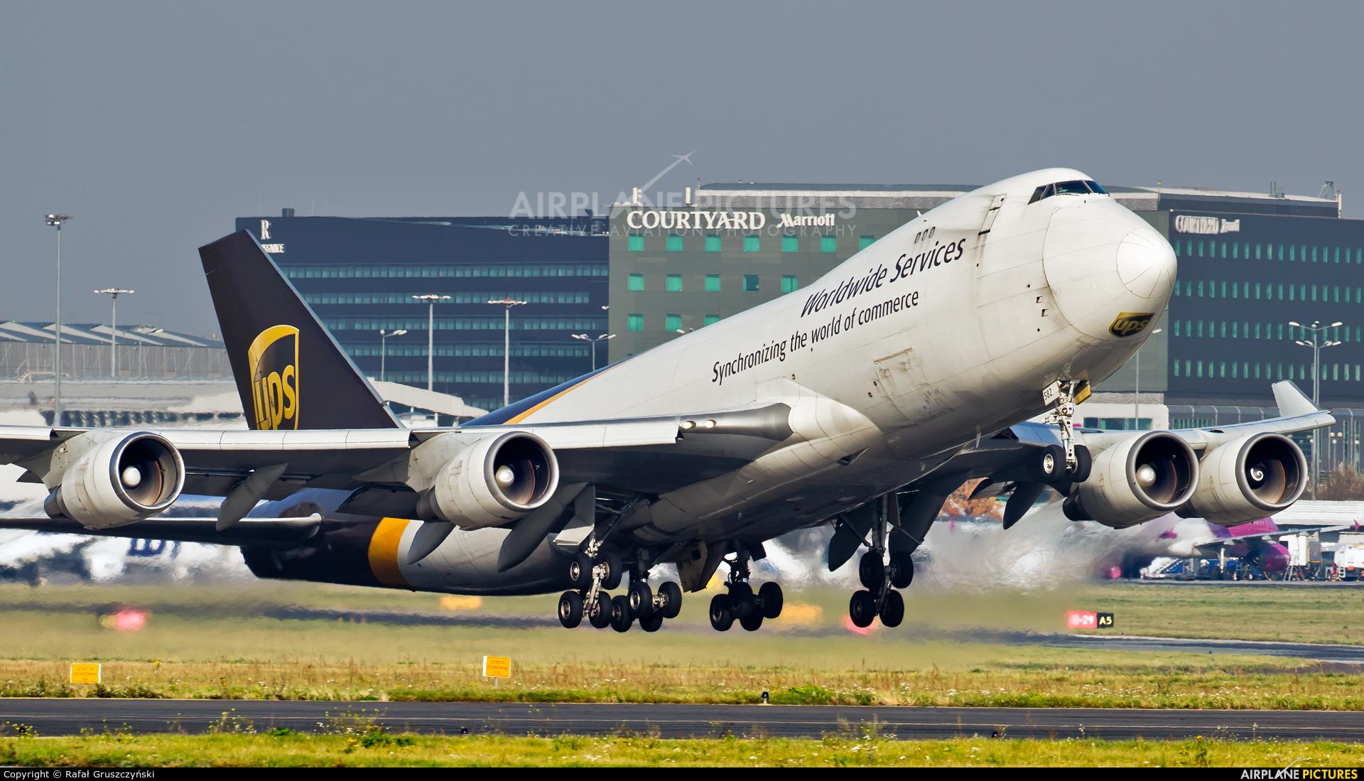 UPS - United Parcel Service N582UP aircraft at Warsaw - Frederic Chopin
