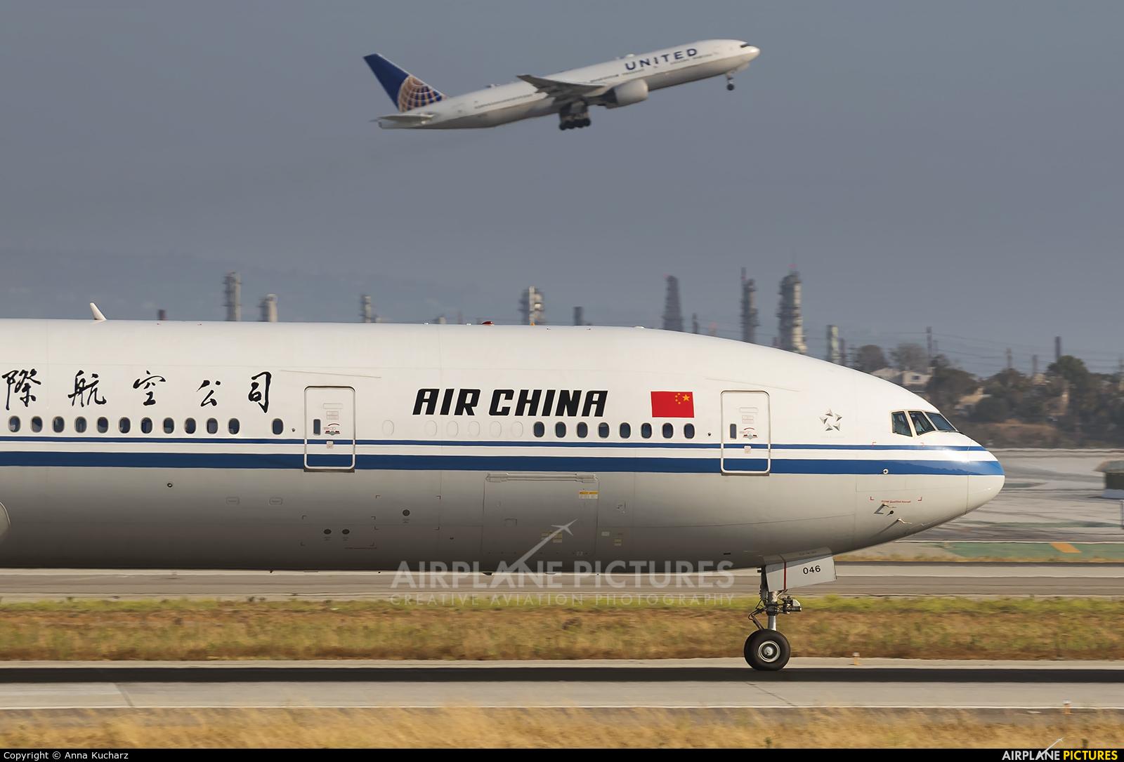 Air China B 2046 Aircraft At Los Angeles Intl