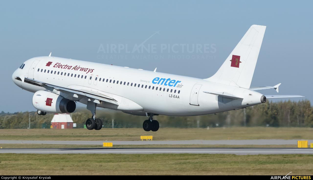 Electra Airways LZ-EAA aircraft at Gdańsk - Lech Wałęsa