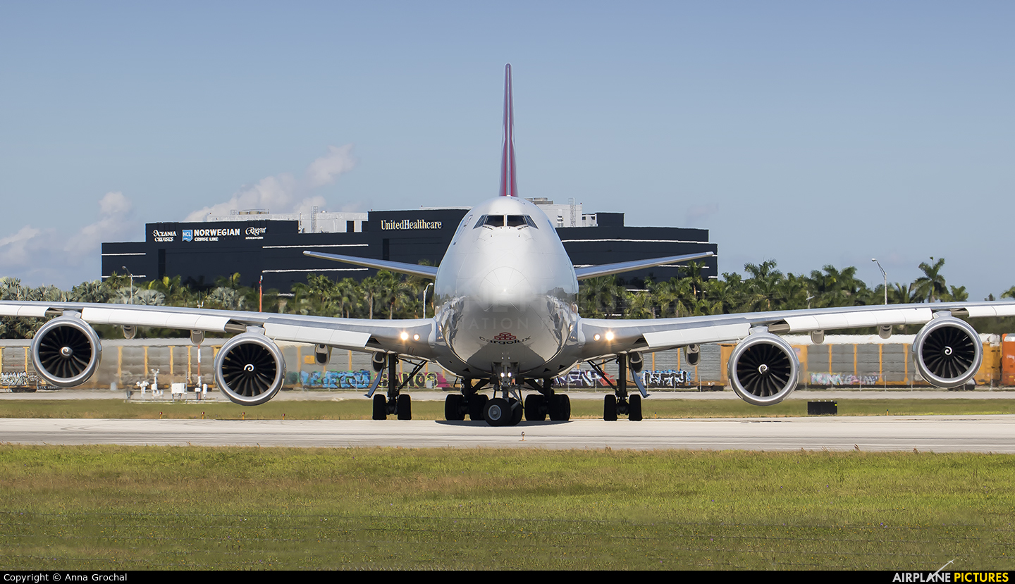 Cargolux LX-VCH aircraft at Miami Intl