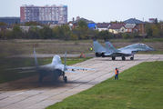 "56 - Russia - Air Force ""Strizhi"" Mikoyan-Gurevich MiG-29UB aircraft"