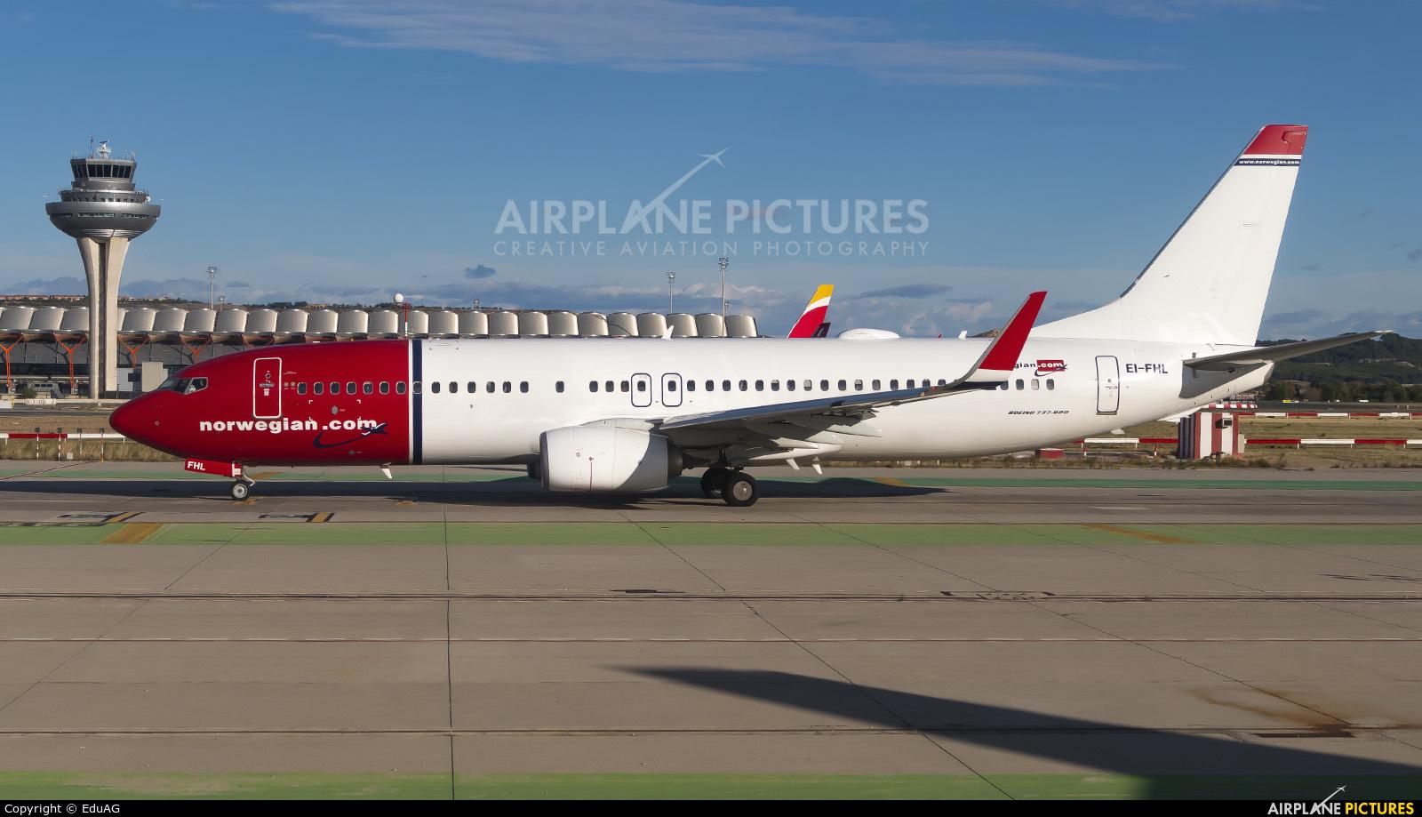 Norwegian Air International EI-FHL aircraft at Madrid - Barajas