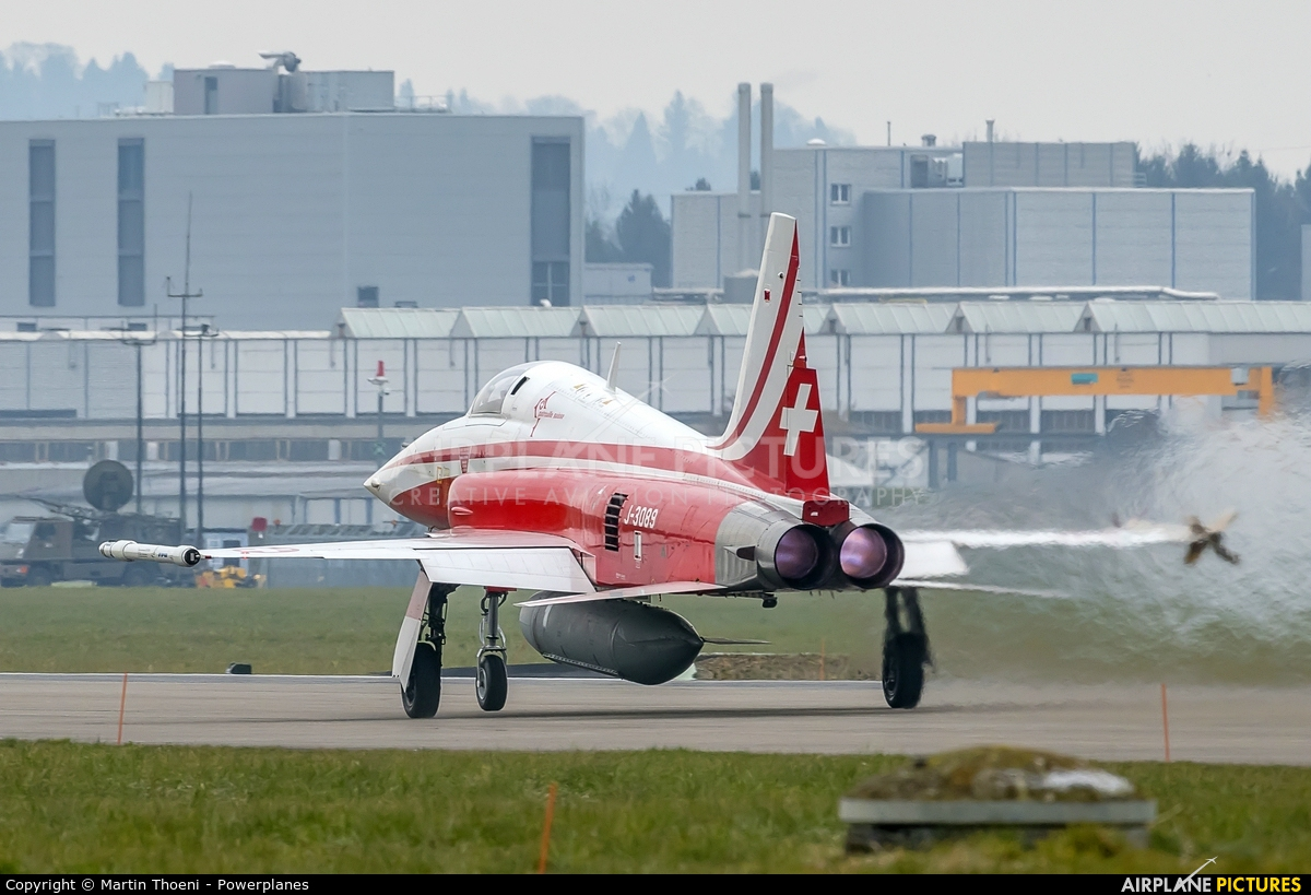 Switzerland - Air Force:  Patrouille de Suisse J-3089 aircraft at Emmen