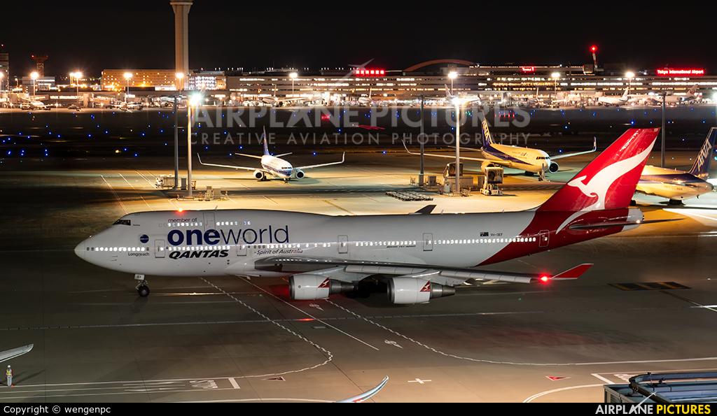 QANTAS VH-OEF aircraft at Tokyo - Haneda Intl