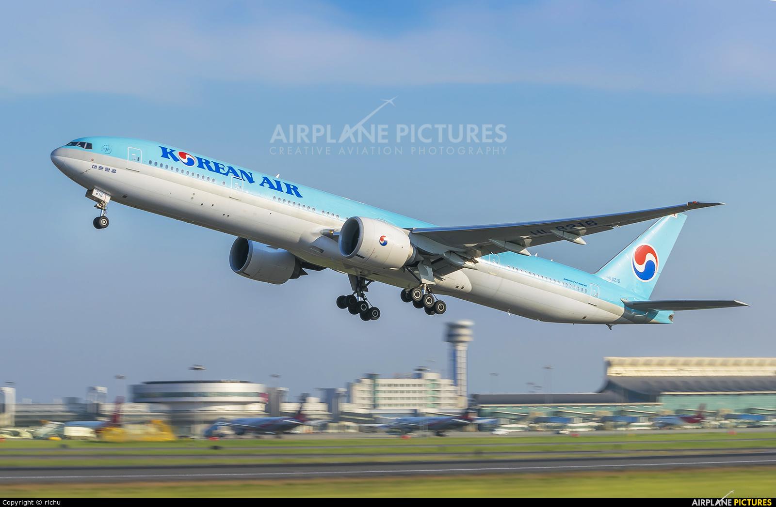 Korean Air HL8216 aircraft at Shenyang-Taoxian