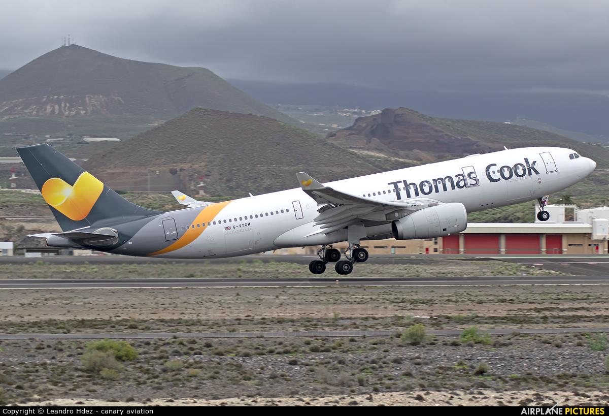 Thomas Cook G-VYGM aircraft at Tenerife Sur - Reina Sofia