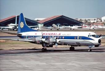 PK-RLF - Mandala Airlines Lockheed L-188 Electra