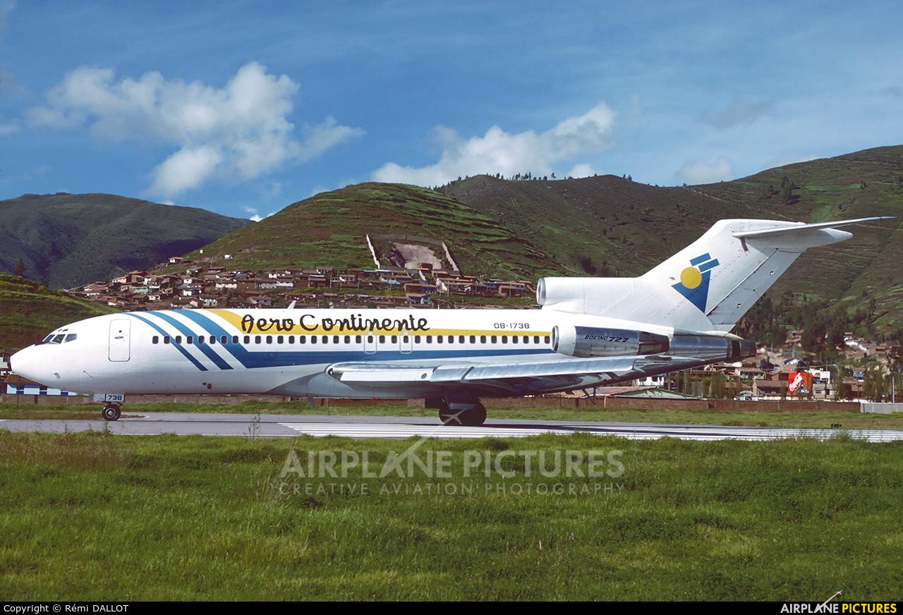 Aero Continente OB-1738 aircraft at Cusco - Alejandro Velasco Astete Intl