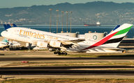 A6-EEO - Emirates Airlines Airbus A380 aircraft