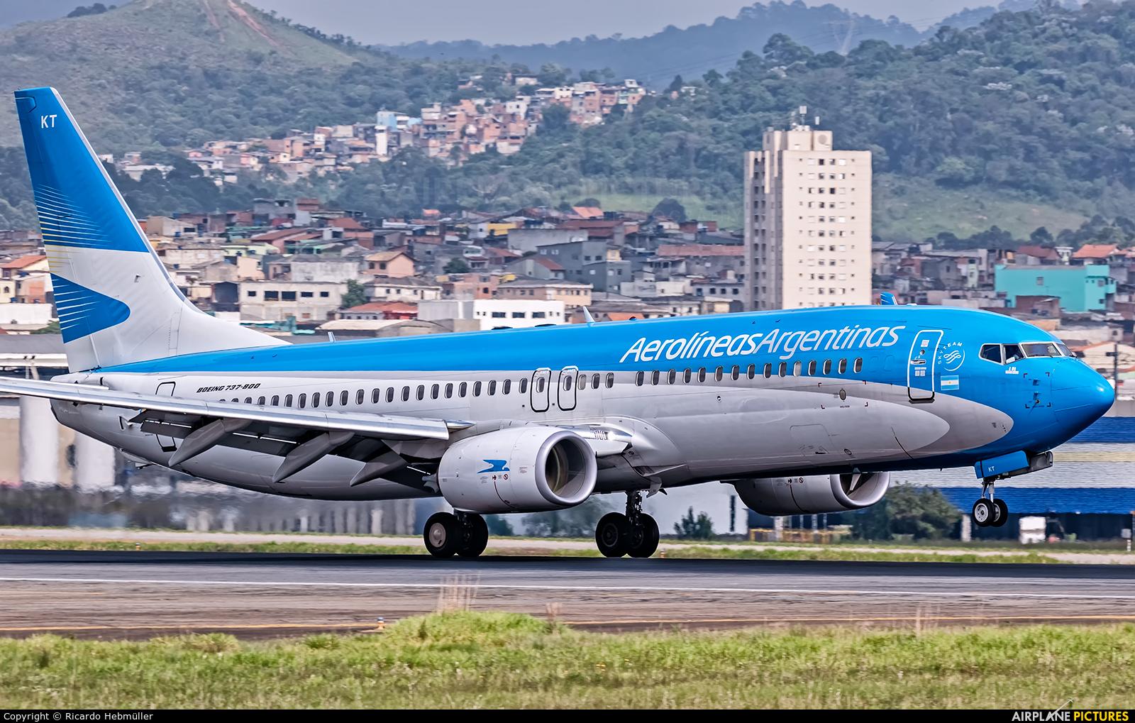 Aerolineas Argentinas LV-GKT aircraft at São Paulo - Guarulhos