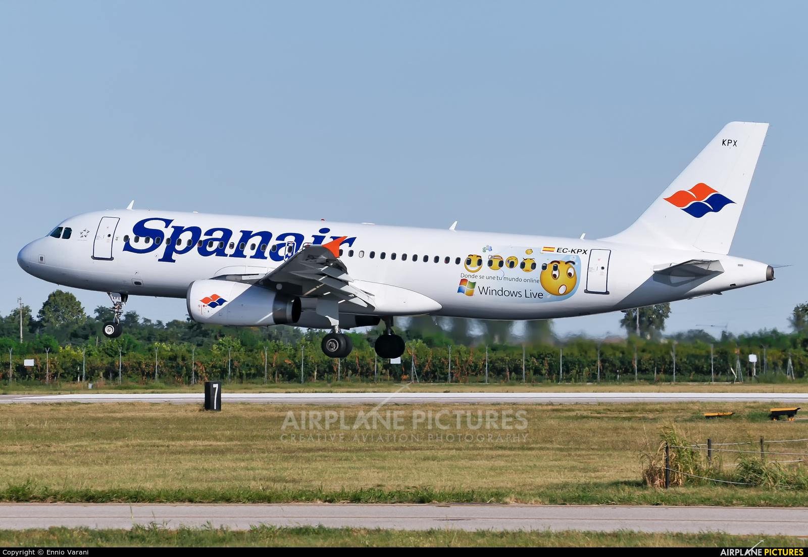 Spanair EC-KPX aircraft at Verona - Villafranca