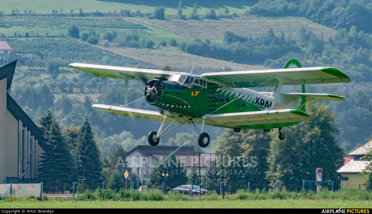 Aeroklub Krakowski SP-AOF aircraft at Nowy Sącz - Łososina