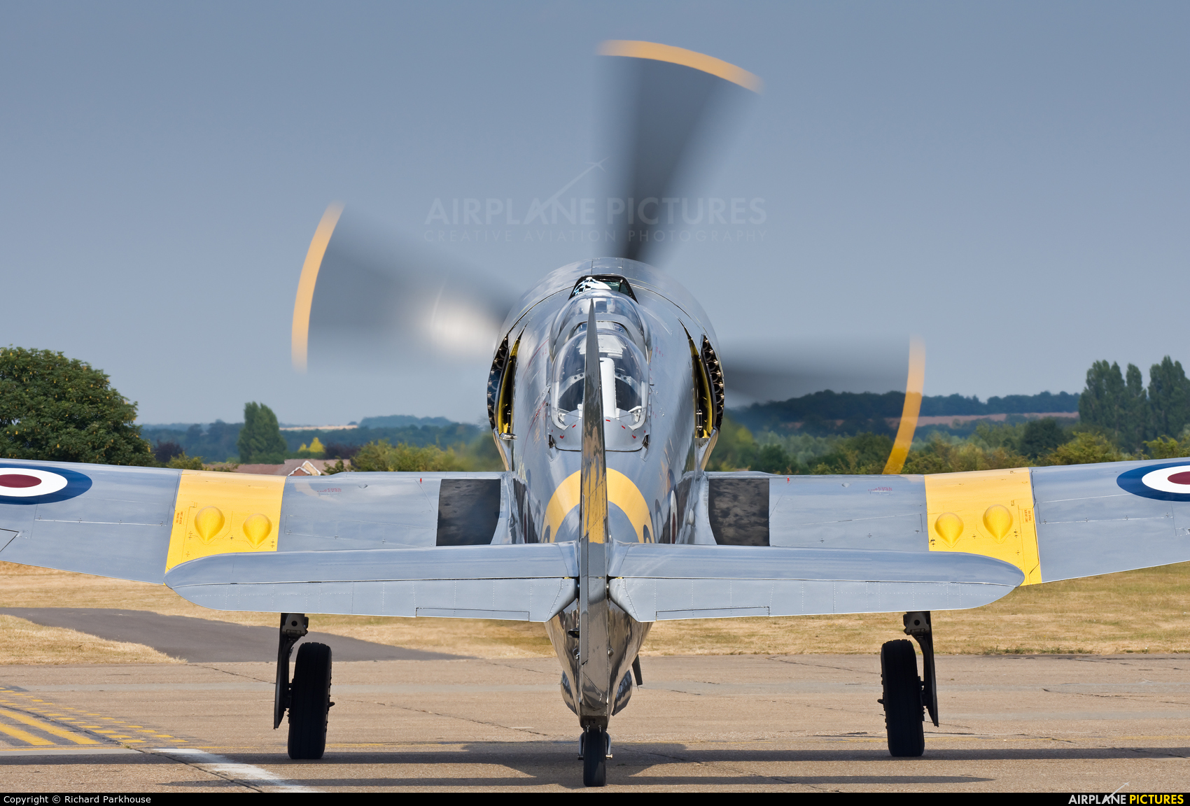 The Fighter Collection G-CHFP aircraft at Duxford