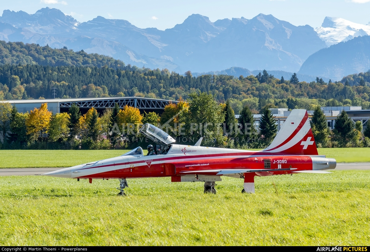 Switzerland - Air Force:  Patrouille de Suisse J-3080 aircraft at Emmen