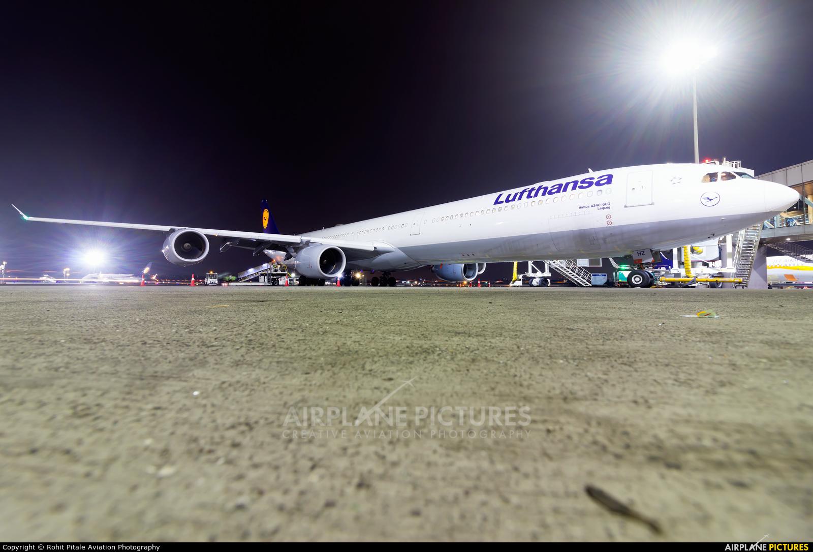 Lufthansa D-AIHZ aircraft at Mumbai - Chhatrapati Shivaji Intl