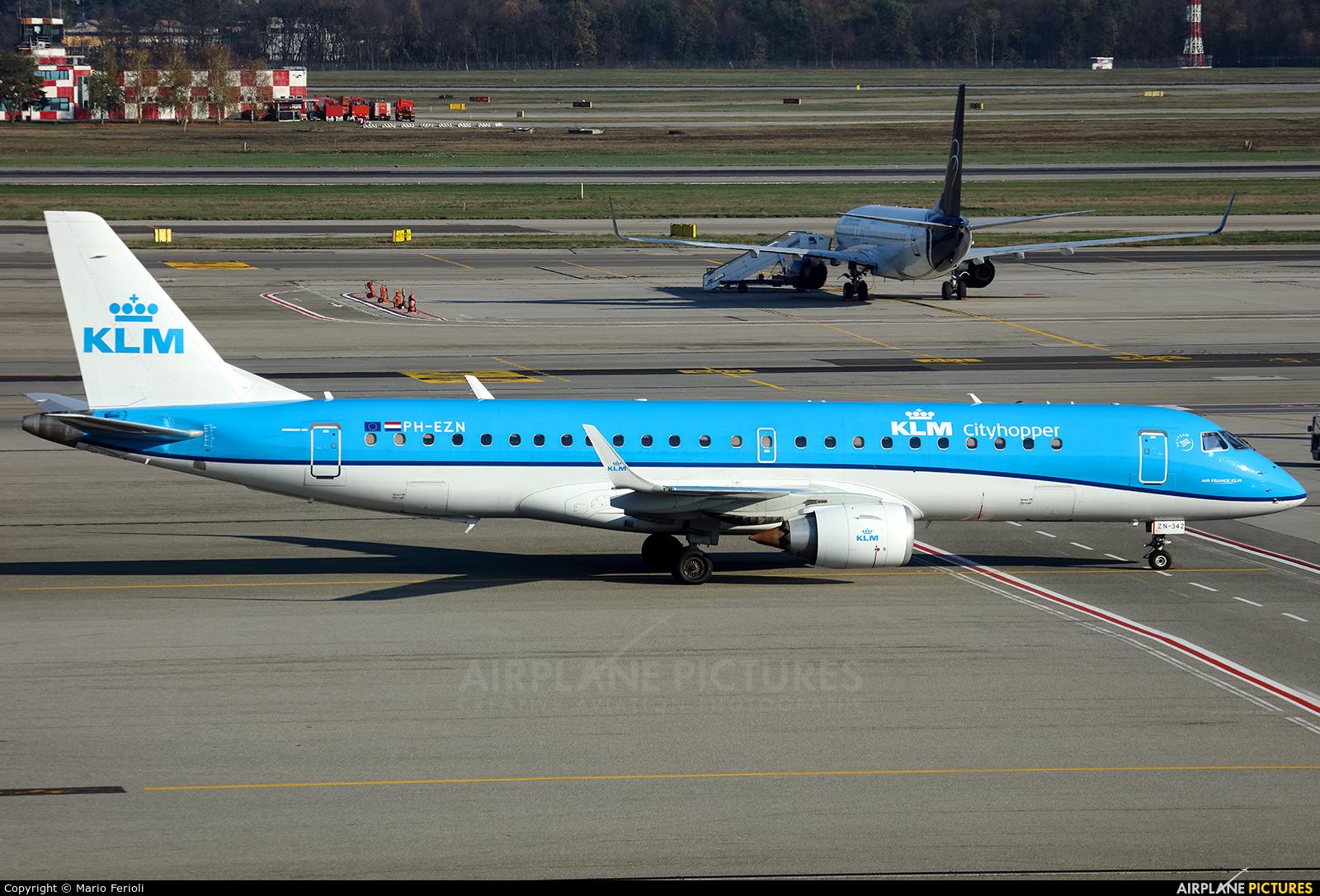 KLM Cityhopper PH-EZN aircraft at Milan - Malpensa