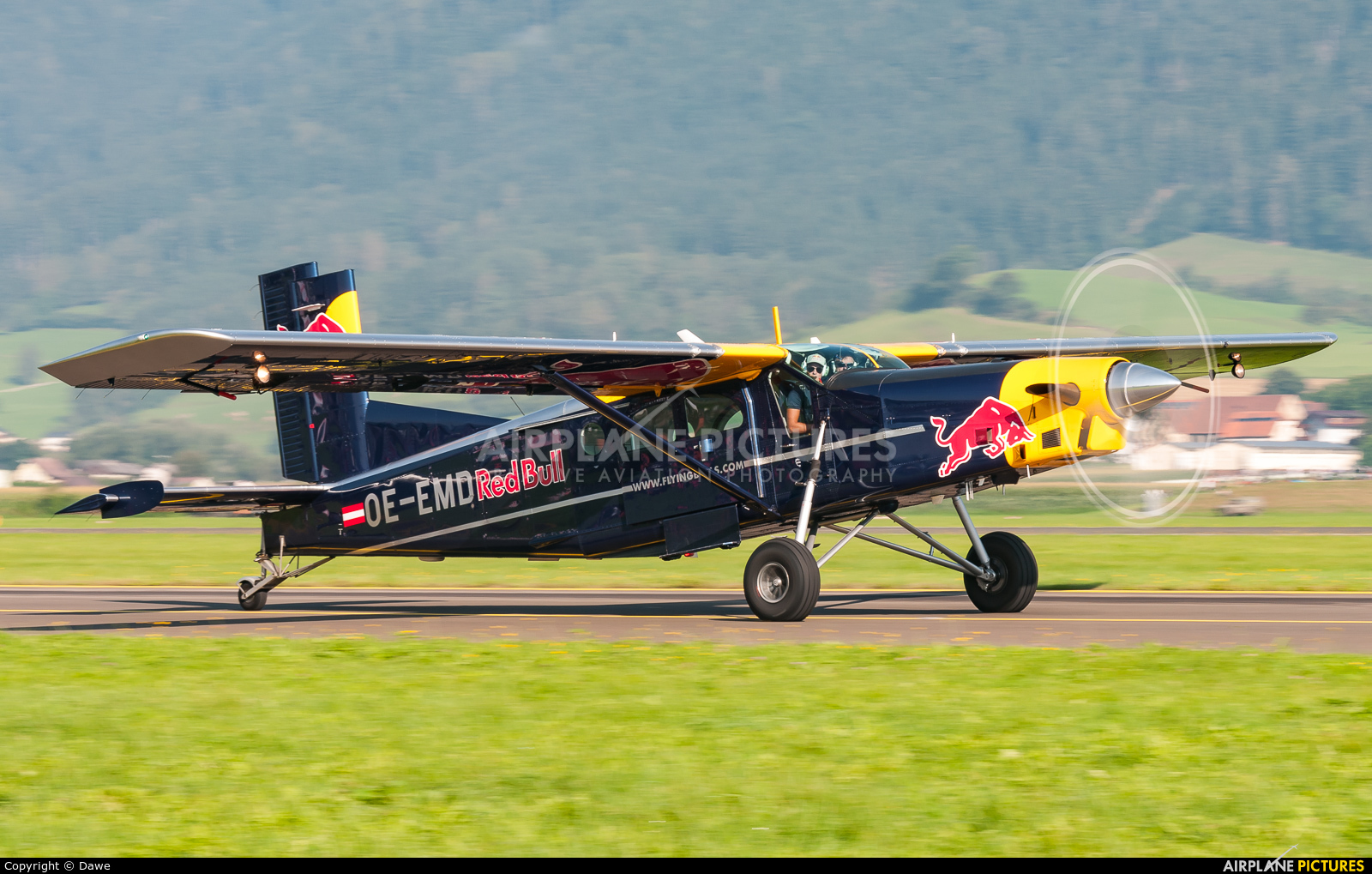 The Flying Bulls OE-EMD aircraft at Zeltweg