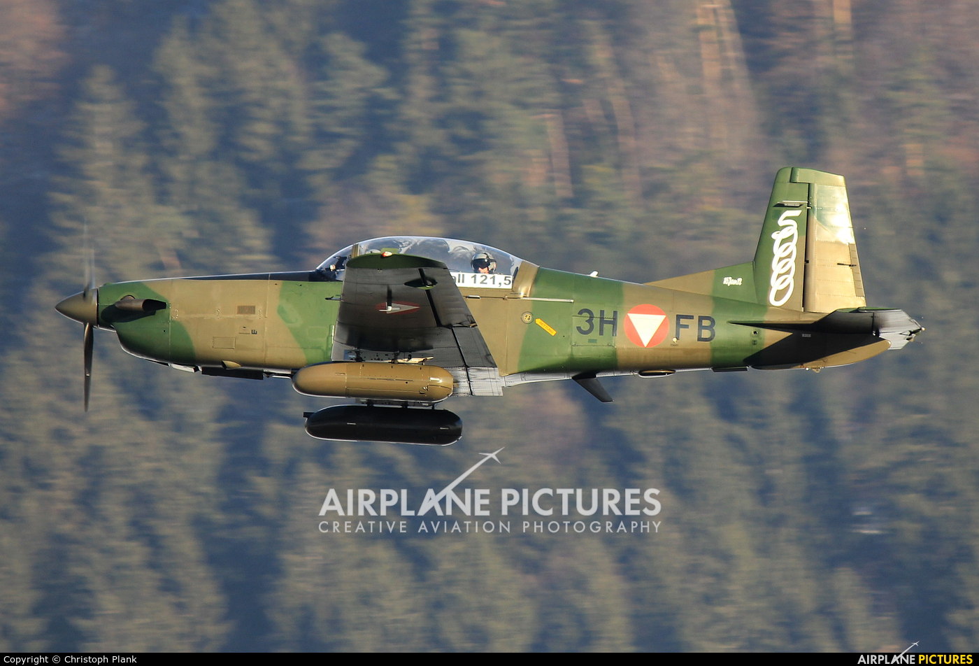 Austria - Air Force 3H-FB aircraft at Innsbruck