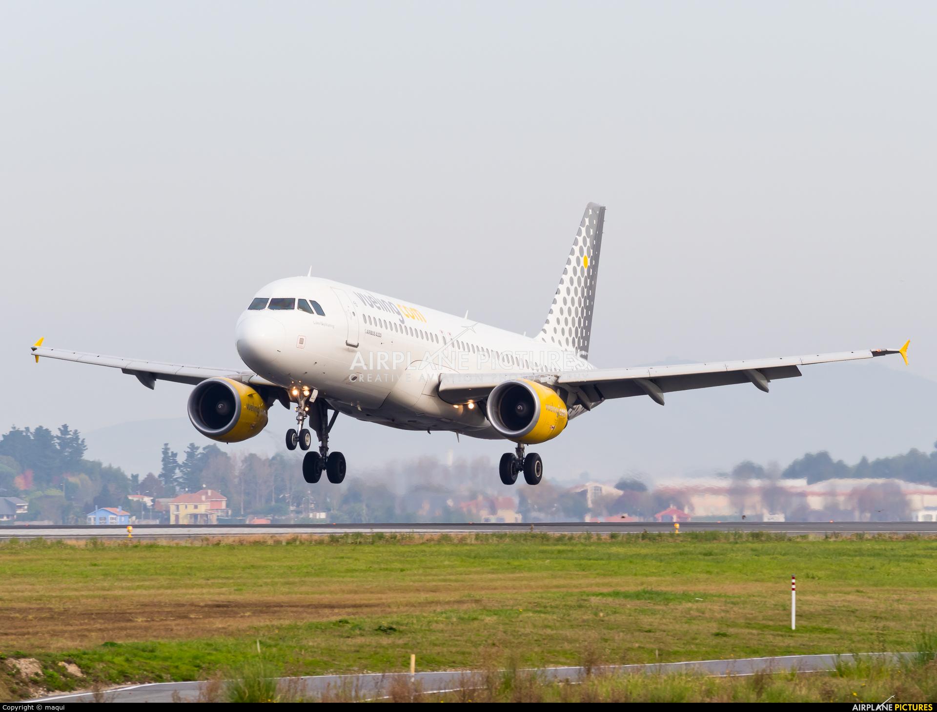 Vueling Airlines EC-LLJ aircraft at La Coruña