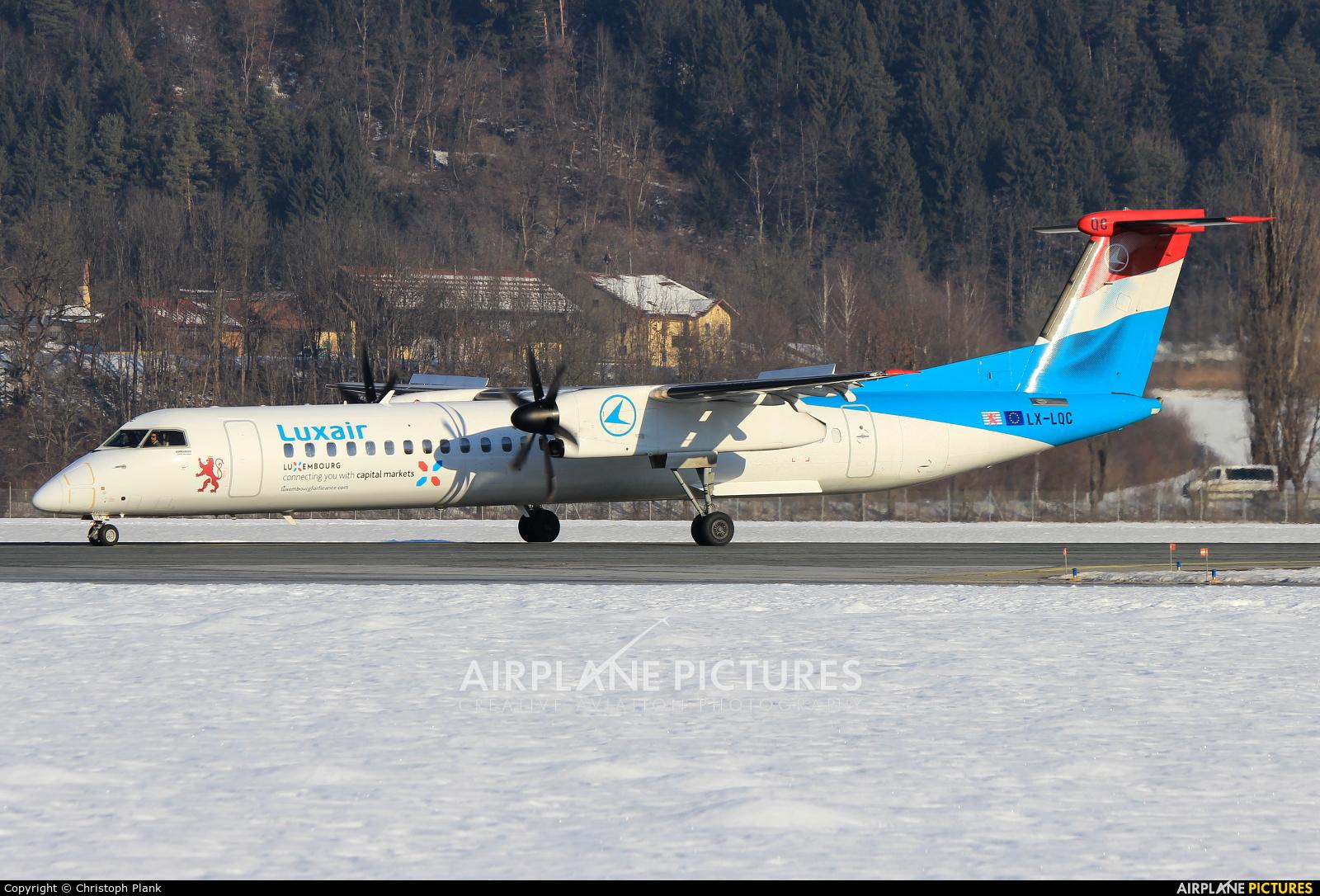 Luxair LX-LQC aircraft at Innsbruck