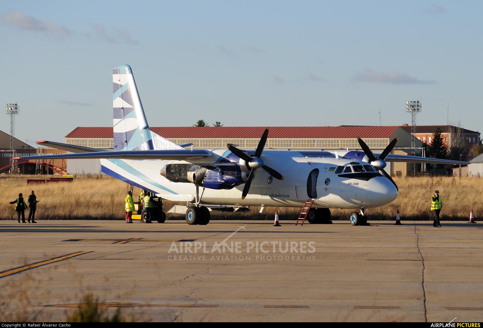 Vulkan Air UR-CQE aircraft at Valladolid - Villanubla
