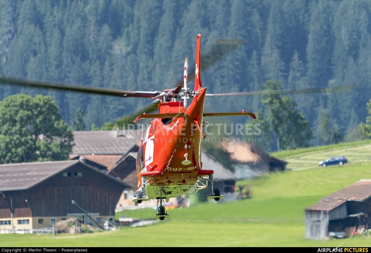 REGA Swiss Air Ambulance  HB-ZRQ aircraft at St. Stephan